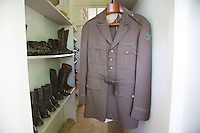Hemingway's War Correspondent uniform and boots at Finca Vigia, San Francisco de Paula, Cuba