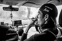 Michael Gogl (AUT/Trek-Segafredo) during the reconnaissance of the 12th Strade Bianche 2018