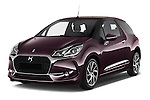 2016 Ds DS-3 Sport-Chic 2 Door Convertible Angular Front stock photos of front three quarter view