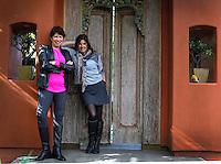 Jan.6, 2015. Encinitas,  CA. USA.|Vivacity Sportswar's CEO Vivan Sayward,left, and designer Christina Zeller look over designs at Zellers studio in Encinitas. |Photos by Jamie Scott Lytle. Copyright.