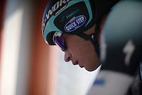 3 Days of De Panne.stage 3b: De Panne-De Panne TT..Iljo Keisse (BEL) on the start podium..