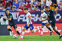 5th September 2021; Nashville, TN, USA;  United States forward Christian Pulisic (10) dribbles the ball during a CONCACAF World Cup qualifying match between the United States and Canada on September 5, 2021 at Nissan Stadium in Nashville, TN.