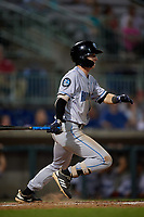 Hudson Valley Renegades Nick Sogard (7) bats during a NY-Penn League game against the Mahoning Valley Scrappers on July 15, 2019 at Eastwood Field in Niles, Ohio.  Mahoning Valley defeated Hudson Valley 6-5.  (Mike Janes/Four Seam Images)
