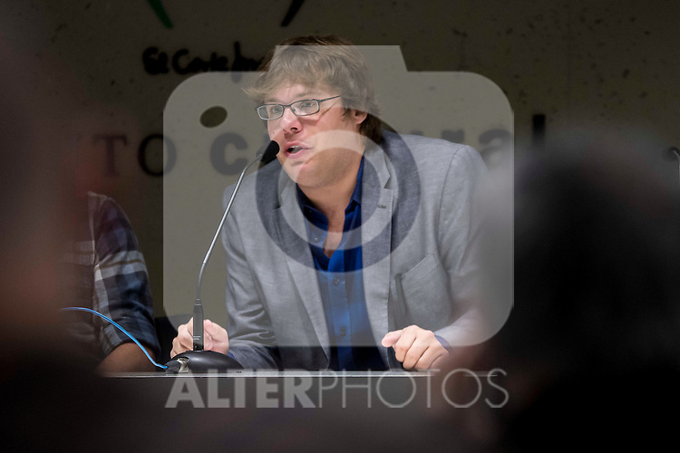 """American producer Kyle Steinike during the press conference of the film """"Patient"""" during the Madrid International Fantastic Film Festival Nocturna in Madrid. May 25 2016. (ALTERPHOTOS/Borja B.Hojas)"""