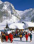 DEU, Deutschland, Bayern, Oberbayern, Berchtesgadener Land, Jenner Skigebiet - Skihuette Mittenkaseralm   DEU, Germany, Bavaria, Upper Bavaria, Berchtesgadener Land, Jenner ski region - ski hut Mittenkaseralm