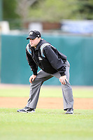 May 15, 2010: Umpire Nick Mahrley at Elfstrom Stadium in Geneva, IL. The Cougars are the Midwest League Class A affiliate of the Oakland Athletics. Photo by: Chris Proctor/Four Seam Images