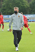 Belgian head coach Wesley Sonck  pictured during a friendly soccer game between the national teams Under19 Youth teams of Belgium and Germany on tuesday 8 th of September 2020  in Genk , Belgium . PHOTO SPORTPIX.BE | SPP | DIRK VUYLSTEKE