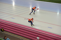 SPEED SKATING: HAMAR: Viking Skipet, 02-02-2019, ISU World Cup Speed Skating, Isabelle van Elst (NED), Floor van den Brandt (NED), ©photo Martin de Jong