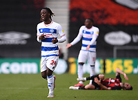 17th October 2020; Vitality Stadium, Bournemouth, Dorset, England; English Football League Championship Football, Bournemouth Athletic versus Queens Park Rangers; Osman Kakay of Queens Park Rangers after fouling Adam Smith of Bournemouth