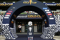 AUSTIN, TX - JULY 29: Gold Cup arch during a game between Qatar and USMNT at Q2 Stadium on July 29, 2021 in Austin, Texas.
