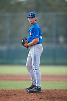 Toronto Blue Jays pitcher Connor Law (31) gets ready to deliver a pitch during an Instructional League game against the Pittsburgh Pirates on October 13, 2017 at Pirate City in Bradenton, Florida.  (Mike Janes/Four Seam Images)
