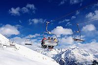 Skilift am Giggijoch, Sölden in Tirol, Österreich