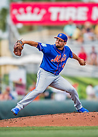 28 February 2019: New York Mets pitcher Luis Avilan on the mound during a Spring Training game against the St. Louis Cardinals at Roger Dean Stadium in Jupiter, Florida. The Mets defeated the Cardinals 3-2 in Grapefruit League play. Mandatory Credit: Ed Wolfstein Photo *** RAW (NEF) Image File Available ***