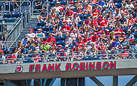 24 May 2015: Former Manager of the Washington Nationals, and Member of the Baseball Hall of Fame, Frank Robinson's name adorns the Ring of Honor at Nationals Park in Washington, DC. The Nationals defeated the Phillies 4-1 to take the rubber game of their 3-game weekend series. Mandatory Credit: Ed Wolfstein Photo *** RAW (NEF) Image File Available ***