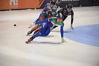 SPEEDSKATING: DORDRECHT: 06-03-2021, ISU World Short Track Speedskating Championships, SF 5000m Men, Pietro Sighel (ITA), ©photo Martin de Jong