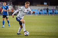 SAN JOSE, CA - MAY 01: Julian Gressel #31 of DC United controls the ball during a game between San Jose Earthquakes and D.C. United at PayPal Park on May 01, 2021 in San Jose, California.