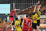 Ludwigshafens Hendrik Wagner (Nr.28) beim Wurf beim Spiel in der Handball Bundesliga, Die Eulen Ludwigshafen - HSC 2000 Coburg.<br /> <br /> Foto © PIX-Sportfotos *** Foto ist honorarpflichtig! *** Auf Anfrage in hoeherer Qualitaet/Aufloesung. Belegexemplar erbeten. Veroeffentlichung ausschliesslich fuer journalistisch-publizistische Zwecke. For editorial use only.