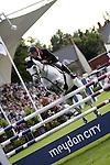 August 07, 2009: Tim Stockdale (GBR) aboard Fresh Direct Corlato. Meydan FEI Nations Cup. Failte Ireland Horse Show. The RDS, Dublin, Ireland.