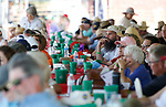 The crowd listens to speakers at the 4th annual Basque Fry in Gardnerville, Nev., on Saturday, Aug. 25, 2018. Hosted by the Morning in Nevada PAC, the event is a fundraiser for conservative candidates and issues and includes traditional Basque dishes like deep-fried lamb testicles.(Cathleen Allison/Las Vegas Review Journal)