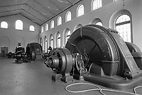 - old turbine room of 1910 year in Grosotto hydroelectric power station of AEM (Municipal Energetic Company of Milan)<br /> <br /> - antica sala turbine d'epoca 1910 nella centrale  idroelettrica AEM (Azienda Energetica Municipale di Milano) a Grosotto (Sondrio, Valtellina)
