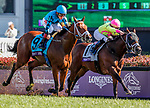 November 3, 2018: Stormy Liberal #9, ridden by Drayden Van Dyke, wins the Breeders' Cup Turf Sprint on Breeders' Cup World Championship Saturday at Churchill Downs on November 3, 2018 in Louisville, Kentucky. Eric Patterson/Eclipse Sportswire/CSM