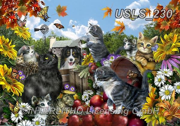 Lori, LANDSCAPES, LANDSCHAFTEN, PAISAJES, paintings+++++LeoAndFriends_With Toby,USLS230,#l#, EVERYDAY ,puzzle,puzzles