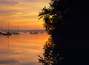 Lake Massabesic in Auburn, New Hampshire at sunrise. Located in Manchester and Auburn, this lake covers over 2,500 acres, and it is the drinking water supply for the Manchester area.