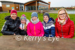 Relaxing after their stroll in the Tralee Bay Wetlands on Thursday, l to r: Jacinta, Líle, Laoíse and Rían Walsh and Noreen Healy.