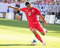 CLEVELAND, OH - JUNE 22: Eric Davis #15 during a game between Panama and Guyana at FirstEnergy Stadium on June 22, 2019 in Cleveland, Ohio.