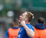 07.04.2019 Motherwell v Rangers: Scott Arfield celebrates his third