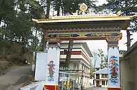 Gate to TIPA, the Tibetan Institute of Performing Arts.