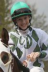 08 April 2011.  Greta Kuntzweiler on Luv Gov in the 6th race.