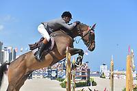 MIAMI BEACH, FL - APRIL 07: Luiz Felipe de Azevedo at the Longines Global Champions Tour stop day 3 in Miami Beach on April 7, 2018 in Miami Beach, Florida<br /> <br /> People:  Luiz Felipe de Azevedo