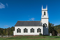 Charming country church, Guilford, Vermont, USA.