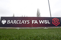 FAWSL signage during West Ham United Women vs Arsenal Women, Women's FA Cup Football at Rush Green Stadium on 26th January 2020