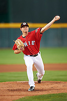 Erie SeaWolves starting pitcher Tyler Alexander (37) during a game against the Richmond Flying Squirrels on August 22, 2016 at Jerry Uht Park in Erie, Pennsylvania.  Erie defeated Richmond 4-2.  (Mike Janes/Four Seam Images)
