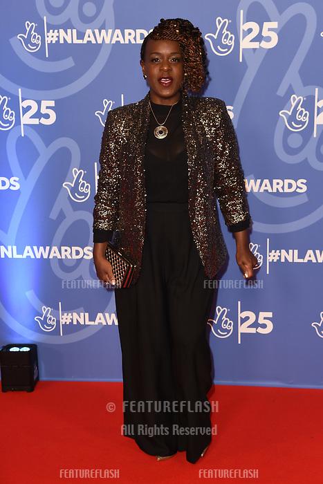 LONDON, UK. October 15, 2019: Tameka Empson at the National Lottery Awards 2019, London.<br /> Picture: Steve Vas/Featureflash