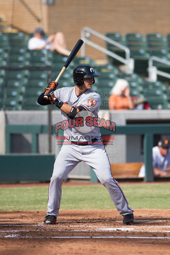 Glendale Desert Dogs designated hitter Martin Cervenka (25), of the Baltimore Orioles organization, at bat during an Arizona Fall League game against the Salt River Rafters at Salt River Fields at Talking Stick on October 31, 2018 in Scottsdale, Arizona. Glendale defeated Salt River 12-6 in extra innings. (Zachary Lucy/Four Seam Images)