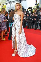Hailey Baldwin sur le tapis rouge pour la projection du film THE BEGUILED / LES PROIES lors du soixante-dixième (70ème) Festival du Film à Cannes, Palais des Festivals et des Congres, Cannes, Sud de la France, mercredi 24 mai 2017. Philippe FARJON / VISUAL Press Agency