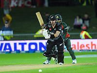 NZ's Glenn Phillips bats during the second International T20 cricket match between the New Zealand Black Caps and Bangladesh at McLean Park in Napier, New Zealand on Tuesday, 30 March 2021. Photo: Dave Lintott / lintottphoto.co.nz