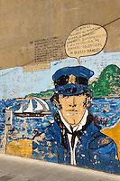 Murales in Fluminimaggiore, Provinz Carbonia-Iglesias, Südwest Sardinien, Italien