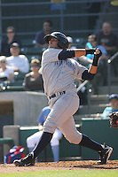 Wilmington Blue Rocks catcher Juan Graterol  #24 at bat against the Myrtle Beach Pelicans at BB&T Coastal Field in Myrtle Beach, South Carolina on April 10, 2011.   Photo By Robert Gurganus/Four Seam Images