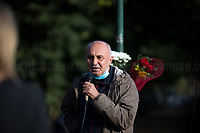"""Roberto Colasanti (Brother of Donatella Colasanti).<br /> <br /> Rome, 29/09/2020. Today, the VIII Municipio di Roma (8th Municipality of Rome) supported by the Associazione """"Il Tempo Ritrovato"""" and """"La Cultura Del Cuore"""", held a rally at Maria Rosaria Lopez's Park to commemorate the 45th anniversary of the Circeo massacre. On the 29th September 1975 Maria Rosaria Lopez and Donatella Colasanti were kidnapped, raped and tortured by three young-wealthy neo-fascist men, Angelo Izzo (20), Gianni Guido (19), Andrea Ghira (22), in a villa of Circeo, a wealthy seaside area about 100km south of Rome. Maria Rosaria Lopez (bartender, 19) was killed by her captors, Donatella Colasanti (student, 17), miraculously saved herself by pretending to be dead. From the organiser press released (1.): «[…] Maria Rosaria died that night, while Donatella left us in 2005 after years of struggles in the name of truth and justice trials which have traced a historical and cultural change in terms of condemnation of gender violence perpetrators and not of their victims. For the first time, feminist associations have taken civil action, shouting that for every woman raped and offended we are all women the victims of the violence […]».<br /> <br /> Footnotes & Links:<br /> 1. https://www.facebook.com/casaintdelledonneroma/photos/a.560595397299220/5070912089600839/?type=3&theater<br /> (Source, Globalist.it ITA) Un fiore per Rosaria e Donatella 45 anni dopo il massacro del Circeo http://bit.do/fJVuV<br /> (Source, Wikipedia.org, ITA) https://it.wikipedia.org/wiki/Massacro_del_Circeo"""