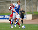 St Johnstone v Kilmarnock....20.10.12      SPL.Liam Craig is fouled by Alex Pursehouse.Picture by Graeme Hart..Copyright Perthshire Picture Agency.Tel: 01738 623350  Mobile: 07990 594431