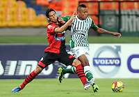 MEDELLêN -COLOMBIA-09-11-2013. Accion de juego entre los equipos Atletico Nacional y el Cucuta Deportivo durante partido de la 18 fecha del la Liga Postob—n 2013-1 realizado en el estadio Atanasio Girardot de Medell'n./  Action game between teams Atletico Nacional and Deportivo Cucuta during the 18th game of the League Postob—n date 2013-1 made ??in the Atanasio Girardot stadium in Medellin.Photo:VizzorImage / Luis Rios / Stringer