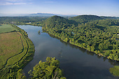 French Broad River and pastures