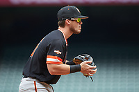 Chase Cryer (15) of the Sam Houston State Bearkats on defense against the Kentucky Wildcats during game four of the 2018 Shriners Hospitals for Children College Classic at Minute Maid Park on March 3, 2018 in Houston, Texas. The Wildcats defeated the Bearkats 7-2.  (Brian Westerholt/Four Seam Images)