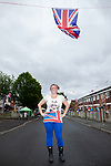 © Joel Goodman - 07973 332324 . 03/06/2012 . Manchester , UK . Road closed for a Jubilee party at Farnborough Road , Miles Platting , as streets are closed for street parties for the Queen's Diamond Jubilee celebrations . Photo credit : Joel Goodman