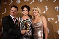 September 16 2012 - Montreal, Quebec, CANADA - Gemeaux Awards Gala - <br /> <br /> Louis Morissette,Helene Bourgeois Leclerc , Veronique Cloutier