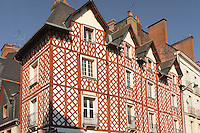 Maison a colombage a l'angle des rues de la Visitation et de la Motte Fablet